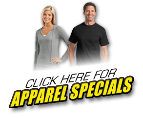 Click Here for Apparel Specials!